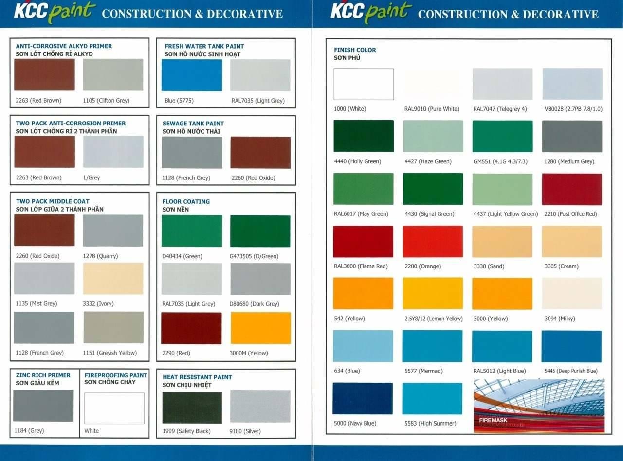 Màu sơn epoxy KCC