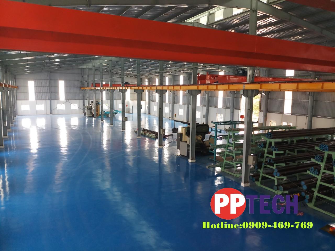 Sơn epoxy hệ lăn epoxy cho sàn nhà máy 2