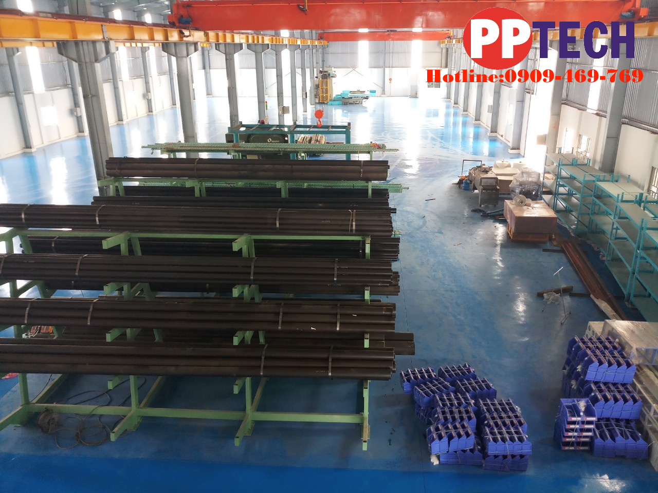 Sơn epoxy hệ lăn epoxy cho sàn nhà máy