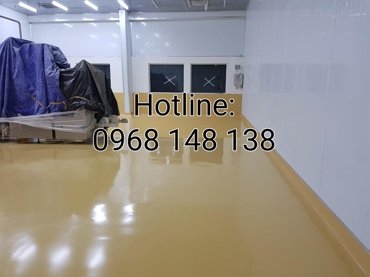 Hình 170: Sơn sàn polyurethane hoàn thiện