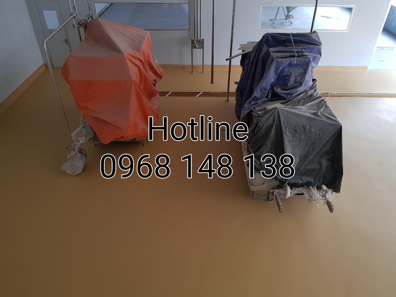 Hình 460: Giá sơn sàn polyurethane (PU) hoàn thiện