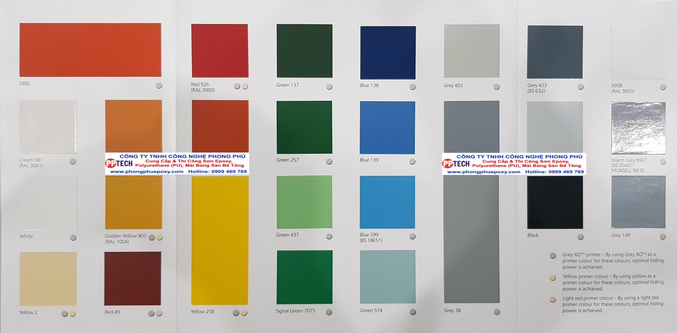 Bảng màu sơn Epoxy Jotun - Màu sơn Epoxy siêu đẹp