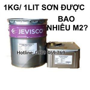 1kg. 1 lít sơn được bao nhiêu m2?